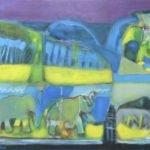 O Rei Elefante VII. Acrílico 192x125cm