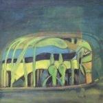 O Rei Elefante XII. Óleo 61x38cm