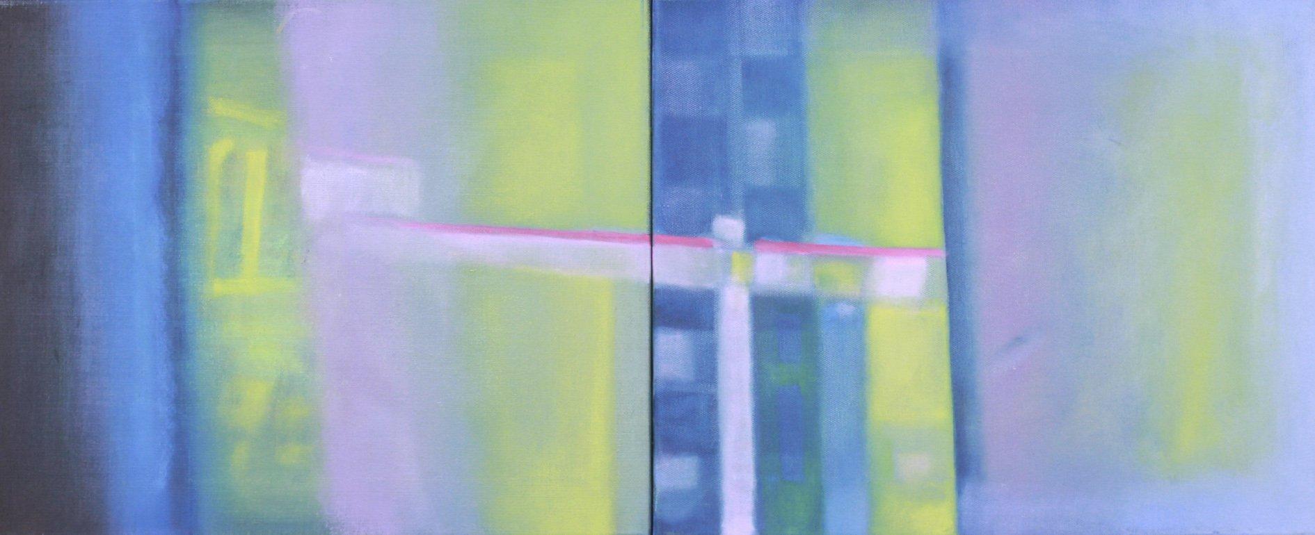 Panorámica Azul. Óleo 76x46cm