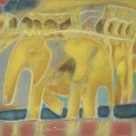 O Rei Elefante Acrílico 46x38cm
